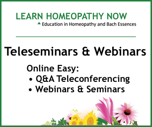 HOMEOPATHY Q&A TELECONFERENCE CALL